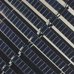 View from a drone: one of the newest advances in solar technology