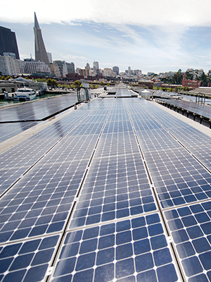 Rooftop commercial solar power system