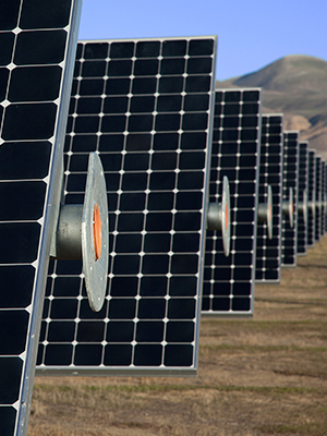 Ground-mounted tracker systems can demonstrate the benefits of commercial solar