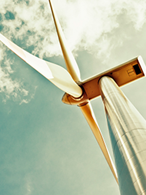 Windmills generate green energy to support corporate social responsibility