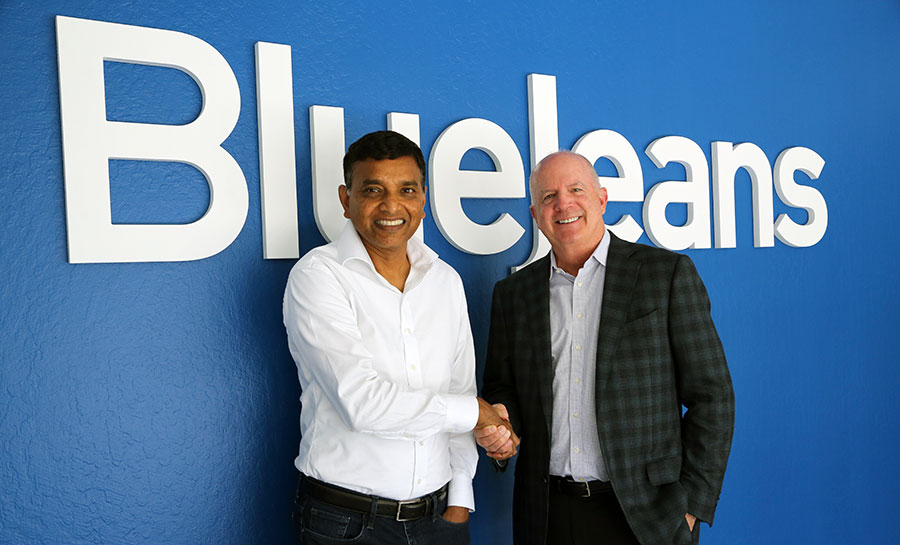 Krish Ramakrishnan and Quentin Gallivan at BlueJeans