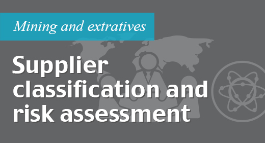 Supplier classification and risk assessment