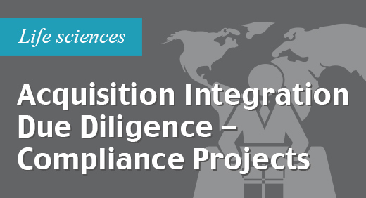 Acquisition integration due diligence - managed services