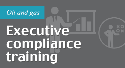 Face-to-face executive compliance training and case study