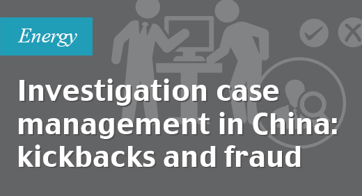 Investigation case management in China