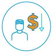 Decrease in cost per interaction