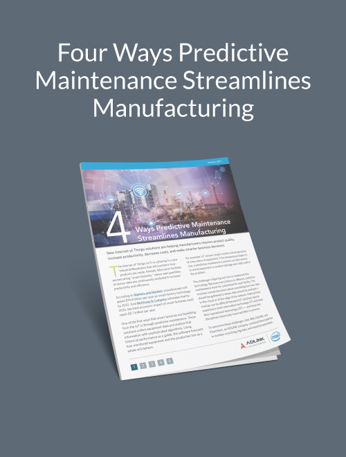 Four Ways Predictive Maintenance Streamlines Manufacturing