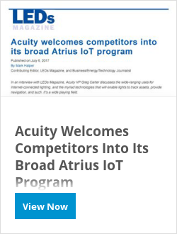 Acuity Welcomes Competitors Into Its Broad Atrius IoT Program