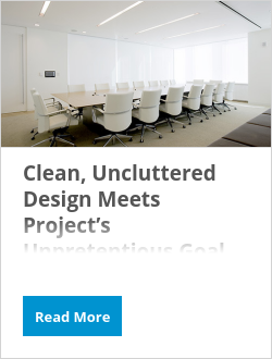Clean, Uncluttered Design Meets Project's Unpretentious Goal