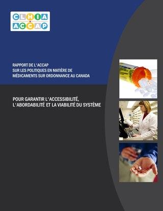 Rapport de l'ACCAP sur les politiques en matière de médicaments sur ordonnance au Canada