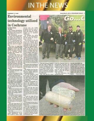 NEWS- Environmental program in Cochrane, Alberta