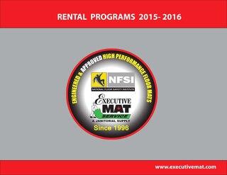 EXECUTIVE MAT SERVICE RENTAL PROGRAMS 2015-2016