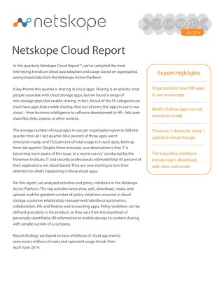 July 2014 Cloud Report