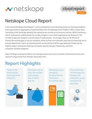 January 2014 Cloud Report