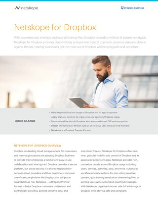 Netskope for Dropbox