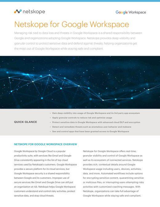 Netskope for Google G Suite