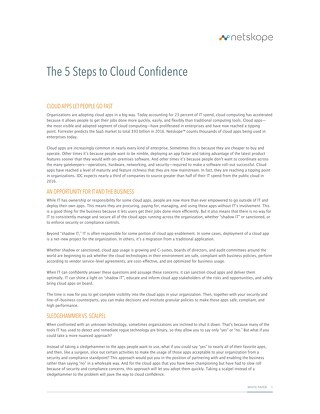The 5 Steps to Cloud Confidence