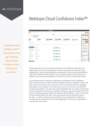 Netskope Cloud Confidence Index