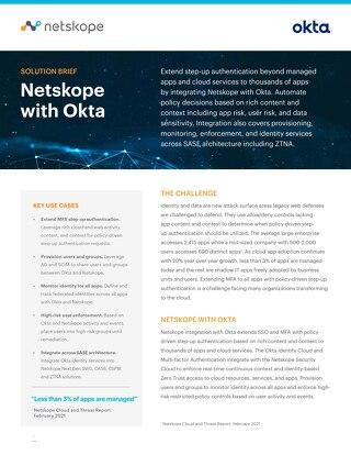 Netskope + Okta