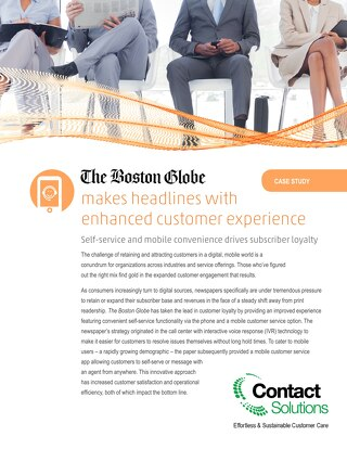 Case Study - Boston Globe IVR and Mobile