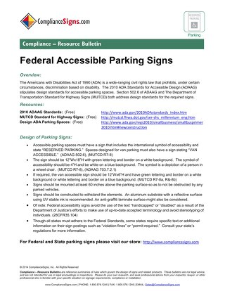 Federal Parking Signs