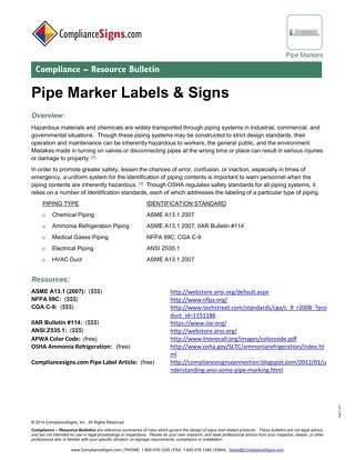 Pipe Marking Standards
