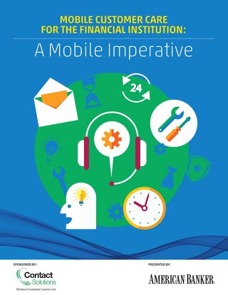 Mobile Care for Financial Institutions (American Banker)
