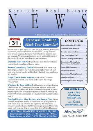2015 KREC Newsletter 1