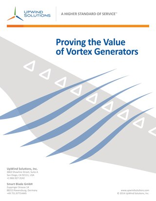 Proving the Value of Vortex Generators