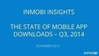 The State of Mobile App Downloads – Q3, 2014