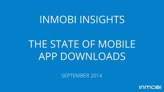 InMobi Insights: The State of Mobile App Downloads