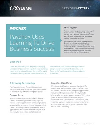 Case Study: Paychex