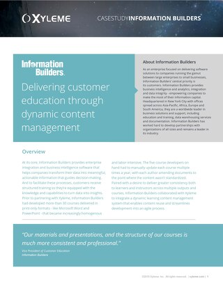 Case Study: Information Builders