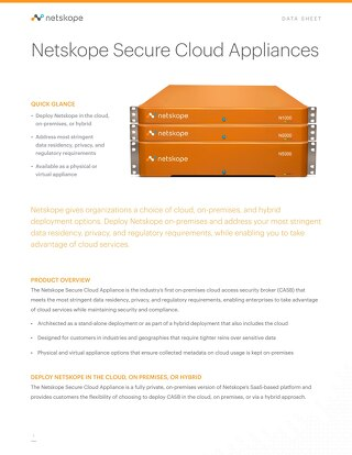 Netskope Secure Cloud Appliances