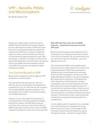 VPP - benefits, pitfalls and misconceptions