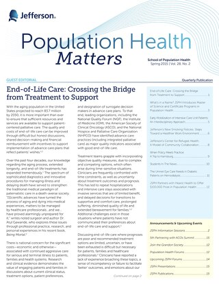 Population Health Matters Spring 2015