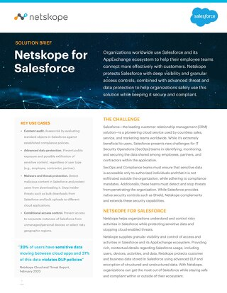 Netskope for Salesforce