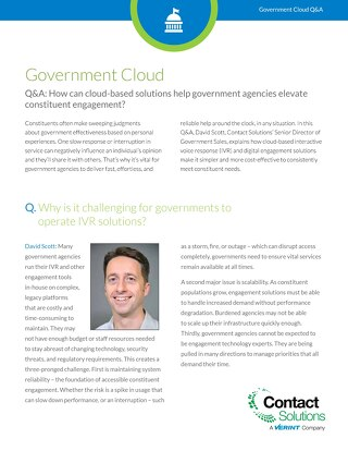 Cloud Q&A for Government