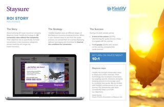 Yieldify case study - Staysure