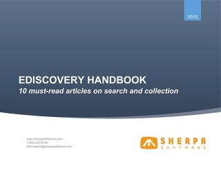 eDiscovery Handbook - 10 must-read articles on search and collection