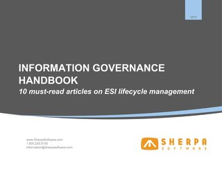 IG Handbook: 10 must-read articles on ESI lifecycle management