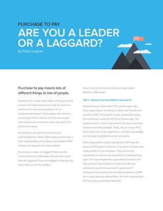Purchasing Insight: Leaders vs Laggards in P2P