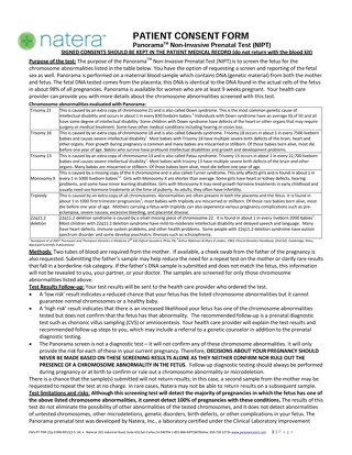 With 22q: Panorama Prenatal Panel Consent Form