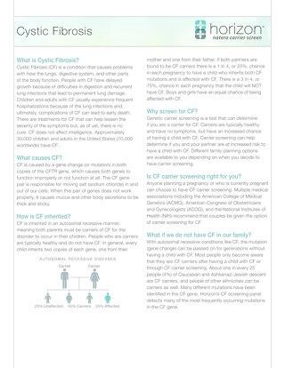 Cystic Fibrosis Fact Sheet