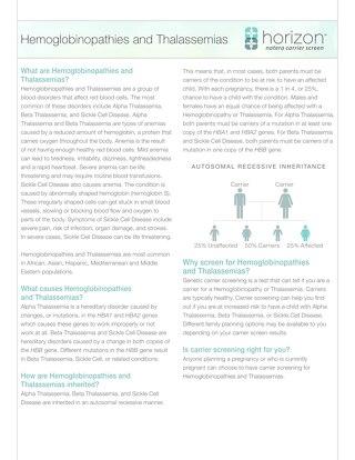 Hemoglobinopathies Fact Sheet