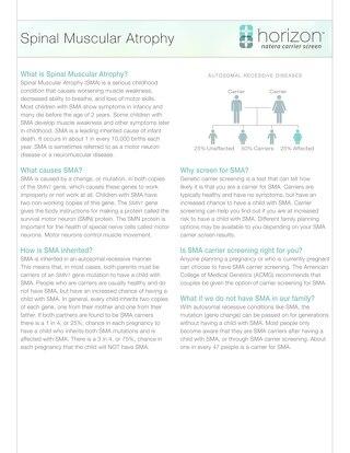 Spinal Muscular Atrophy Fact Sheet