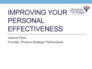 Improving Your Personal Effectiveness: DiSC Assessment Analysis