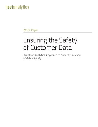 Ensuring the Safety of Customer Data