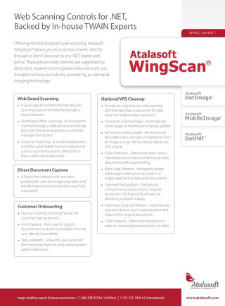 Atalasoft WingScan Product Overview