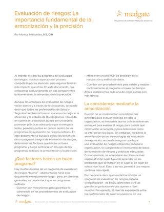 Evaluación de riesgos: La importancia fundamental de la armonización y la precisión